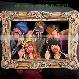 IN STOCK 2016 Photo Booth Large Picture Frame + Funny Faces Party Fun 24 Photo Props Booth