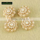 wholesale gold plating flat back alloy rhinestone button