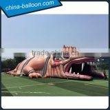 2016 customized new design inflatable dragon house, giant inflatable haunted dragon house for Halloween decoration