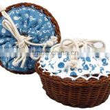 wooden sewing basket set