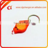 Promotinal Plastic Orange LED Bulb Light Keychain