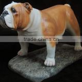 Simulation bulldog statues Canis familiaris OEM custom made French dog sculpture toy figures
