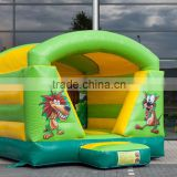 Low Price Tubo mini jungle bounce house with roof