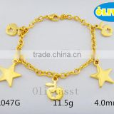 Olivia Jewelry Gold Bracelet Jewelry Wholesale , Stainless Steel Chain Bracelet With Apple Charms