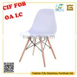 White high gloss glass fiber reinforced plastics dining chair specific use home office desk