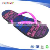2016 Hot sell rubber footwear Cheap Outdoor women Slipper Slide shoes beach flip flops for ladies