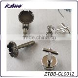 Top Sale 15mm Crown Metal Antique Bronze/Silver Bezel Cufflink
