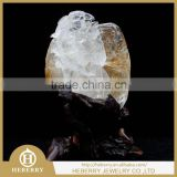 high quality clear quartz crystal couple bird and flower sculpture good for wedding gift