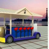 Electric car ice cream kiosks food cart ice cream cart/commercial coffee carts on wheels portable ice cream van for sale