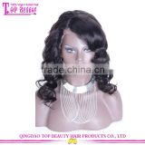 180% Density Water Wave wigs With Big Fringe 7A Brazilian Human Hair Lace Front Wigs With Bangs