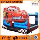 Great sales kid attractive inflatable jumper cars race bounce castle,kids bouncing castle