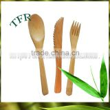 Biodegradable colored wooden fork disposable colored