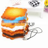PU Cream One Bite Biscuits Miniature Fake Food For Dolls and Dollhouse Purse Keychains Decor-Yiwu sanqi crafts factory