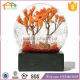 Factory Custom made best home decoration snow globe gift polyresin ceramic christmas water globe with