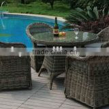 PE rattan garden table set