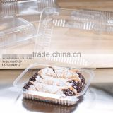 Durable OPS Clear Hinged Plastic Small Oblong Container/ Plastic Bakery Container/ Plastic Food Container for Take Out
