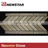 Newstar Tumbled Rock Natural Stone Travertine Tile Backsplash Mosaic