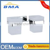 Wall Mounted Stainless Steel Bathroom Double Glass Tumbler Holders