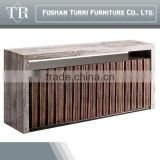 modern luxury marble top wooden base sideboard for living room furniture