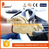 DDSAFETY Auto Luva De Couro Leather Glove Driver Pig Leather Gloves