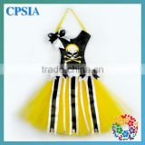 Brand New Cartoon Pattern Black Hair Bow Holder with Yellow Tulle Ideal Gift and Home Decoration