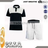 black white color mixed clothing shorts polo top tennis apparel