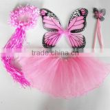 Halloween 4pcs Bithday fairy girls fancy princess dress up costume set