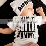 100% Cotton Summer Newborn Baby Clothes Gift Set Boys Knit Romper With Hat