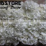 silk high dense artificial ROSE and hydrangea &orchid flower wall for wedding backdrop or lawn/pillar road lead decoration