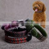 High Quality Fashion Pet Product Peppita Pu Lether Puppy Cat Dog Pet Collar Leash Necklace Small Medium Large