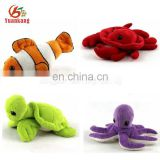 Mini plush toys marine animals stuffed crab/goldfish/tortoise/octopus toy
