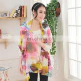 Fashion Ladies 100% Silk Chiffon Scarf
