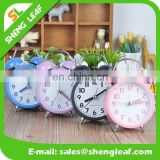 3 inches round with lamp with battery bell personality alarm table clock