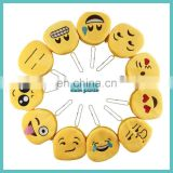 30 styles of creative plush emoji coin purse