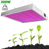 200W Adjustable LED Grow Light With Dimmer Best for Indoor Plants