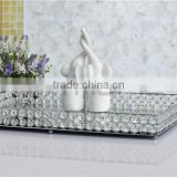 Home Decoration Mirror Glass Serving Tray                                                                         Quality Choice