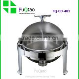 Popular Round Stainless Steel Buffet Chafing Dish with Glass Lid                                                                                         Most Popular                                                     Supplier's Choice