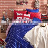 Fashion European style flag printed cotton bedlinen home use queen size sheet set Aadult Cartoon Bedding Set