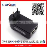 2016 P-series 12Wmax K-240500 48V 100M/1000M POE Injector Used for Wimax VoIP,Network surveillance cameras