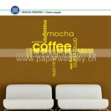 Coffee Word Cloud Word Montage Wall Sticker Kitchen Dining Decal Vinyl Transfer