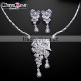 Top Quality Necklace Earrings Set Flower Design Photo Bridal Wedding Jewelry Set