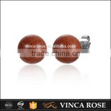 China supply high class a brilliant jewelry silver aventurine beads earring