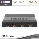 Hot New Product For 2015 Audio Video 4x2 HDMI Matrix With SPDIF Optical Output HDMI Matrix Support HD-DVD CEC