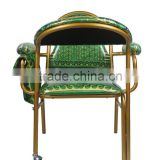 2014 cheap iron green pulpit padded used stackable church muslim prayer chair for sale                                                                         Quality Choice