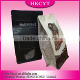Zipper Top Sealing & Handle and Side Gusset coffee beans Bag coffee Bag Type plastic bag with zipper