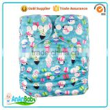Digital Printed One Size Reusable Natural Cotton Merries Baby Diapers