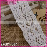 "Wholesale cotton crochet lace,Cheap New Design Elastic 1.63"" Crochet 100% Cotton Sewing Lace Trim for Jewelry Accessories"