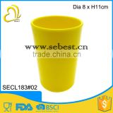 "Wholesale and durable melamine 3"" yellow round shape plastic disposable cups                                                                         Quality Choice"