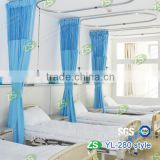 Polyester stripe antibacterial waterproof hospital disposable ward bed curtains