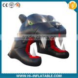 Fantasty Inflatable bull dog Tunnel/Inflatable football helmet tunnel /inflatable football tunnel tent